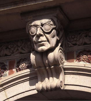 Fig N26 A Bespectacled Grotesque Of Ralph Adams Cram On The Princeton University Chapel Photograph By Anna Bonnell Freidin 2013